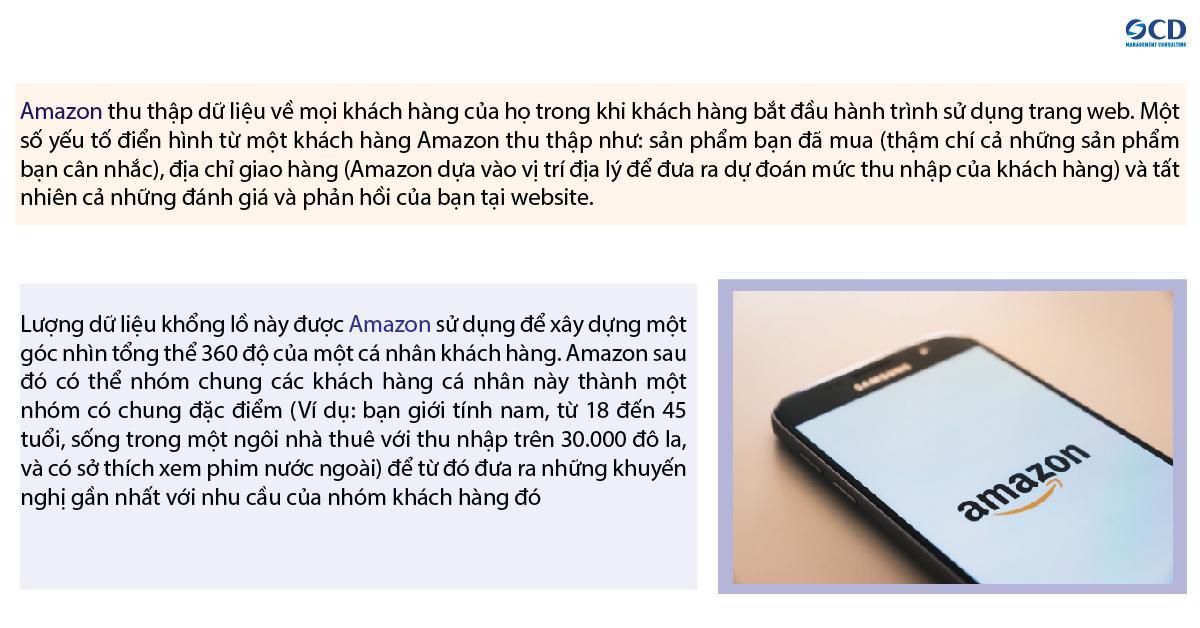 Một ví dụ mà Amazon đã thành công đó là gợi ý cho bạn các sản phẩm gần nhất với nhu cầu thực của bạn